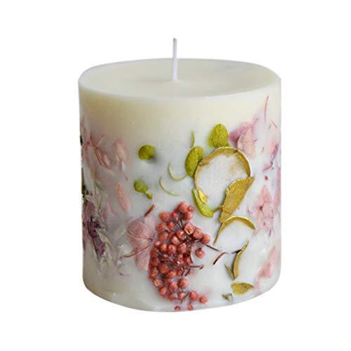 Uonlytech Duftkerze mit getrockneter Blume handgemachte Aromatherapie Kerze natürliche Soja für das Büro zu Hause