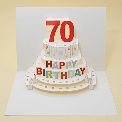 Forever Handmade Pop Up Karte zum 70. Geburtstag - eine hochwertige und originelle Geburtstagskarte, Glückwunschkarte oder Einladungskarte, auch Geschenkgutschein oder Geldgeschenk. GP050