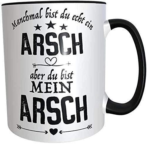 Tasse Du bist Mein Arsch Arsch Geschenk für Männer zum Jahrestag Hochzeitstag Valentinstag Geburtstag mit Spruch frech und lustig