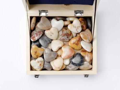 Steinherzen ' Marmor ' 60 Stk in verschiedenen Farben, unsortiert