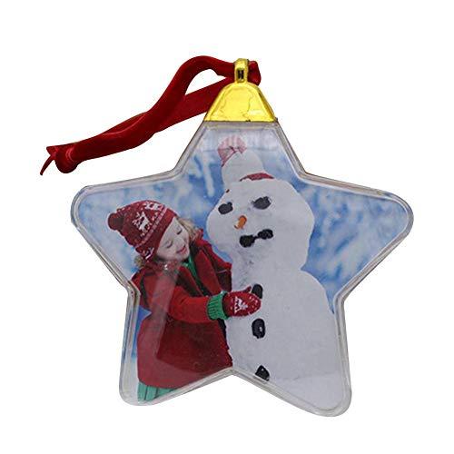 Goodtimera Christbaumkugel, Weihnachtskugel Mit Foto - Weihnachtskugeln Personalisiert, Transparent Und Aus Kunststoff, Geschenk Benutzerdefinierte DIY