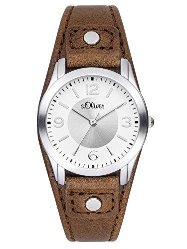 s.Oliver Damen Analog Quarz Armbanduhr SO-2946-LQ