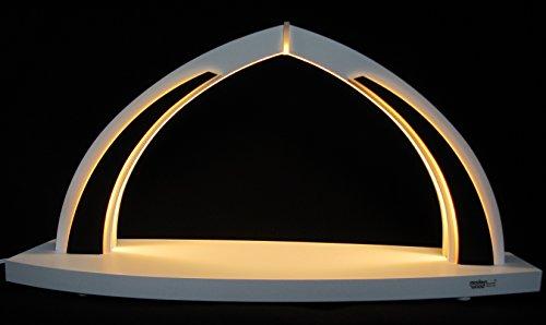 LED Schwibbogen modern White line unbestückt klein 41cm Erzgebirge