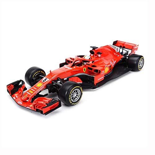 KKD Scale-Modellfahrzeuge Simulationsmodell Auto 1:18 Formel F1 Meisterschaft 2018 Ferrari SF71H Red Bull Mercedes Racing Simulation Legierung Automodell Geschenk Mini Fahrzeuge (Color : RED)