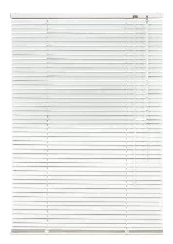 Alu Jalousie Weiß - Breite 40 bis 240 cm - Höhe 130 / 160 / 220 cm - Tür Fenster Rollo Jalousette Aluminium Fensterjalousie Lamellen Metall (40 x 220 cm)