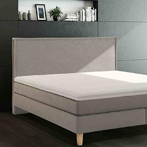 RIDSELECTION Rid Selection Boxspringbett Tunas, Weiss-beige-9, 140x200