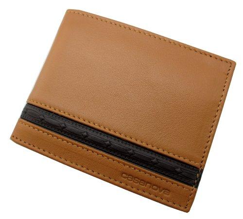 Echt Leder - Handgefertigt in Spanien. Herren Geldbörse Portemonnaie Geldbeutel - Im Geschenkbox