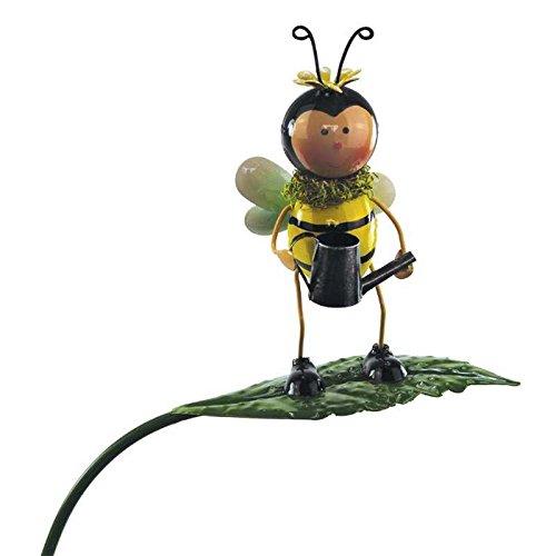 Gartenfigur Gartenstecker Biene aus Metall 85 cm groß Beetstecker Gartendekoration