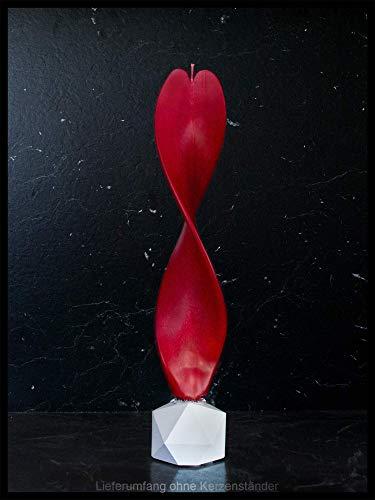 Rote Kerze Engelslicht handgemacht. Weihnachtsgeschenk, Weihnachtsdeko. Engelskerze auch als schöne Tischdeko. Werden Sie von dieser edlen Dekoration verzaubert