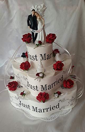 * Toilettenpapiertorte * Hochzeit * Just Married *