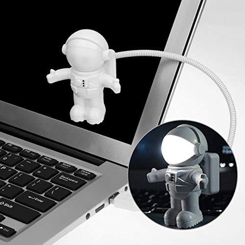 Astronaut Nachtlicht Spaceman Astro Lampe Hangrui Flexible Mini USB-LED Lampe Licht für Laptop-Notizbuch-Licht-weiße Nacht Haushalt Licht Einstellbare Nachtlicht