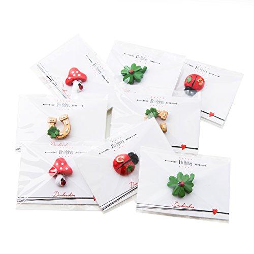 Logbuch-Verlag 20 kleine mini Geschenke Kollegen Mitarbeiter Kinder Danke Dankeschön Präsent Hufeisen Kleeblatt Herz Dankesgeschenk Freunde