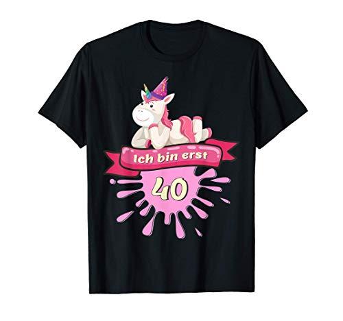 40 Jahre, Runder 40. Geburtstag Einhorn T-Shirt Geschenk T-Shirt