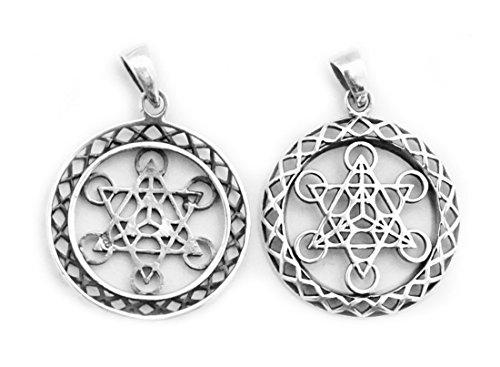 Anhänger/Amulett Metatron 925 Sterling Silber - Yoga Esoterik Spiritualität Astrologie Meditation Energie