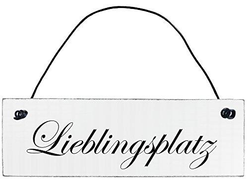 Anika Hermsen-Grallert, HomeYourself Shabby Chic Vintage Schild Lieblingsplatz Dekoschild Türschild