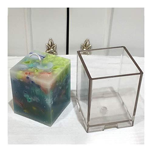 HONGTAI Kerze-Form-3D-Duftkerzen Seifen-Form-Handwerk Kerzenherstellung Handgemachte Formen for Kerzen Moldes Kunststoff (Size : 5x5x8cm)