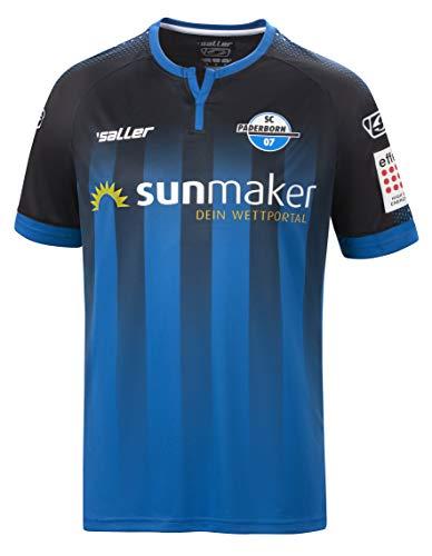 Saller SC Paderborn Heimtrikot 2019/2020 schwarz-blau Größe L-XL