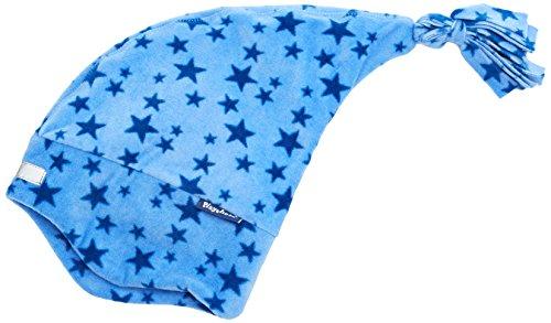 Playshoes Mädchen Mütze Warme Kinder Fleece-Zipfelmütze Sterne, (Blau 7), 53