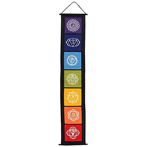 Something Different – Chakra-Symbol-Banner, Stoff, mehrfarbig, 29 x 0,2 x 154 cm