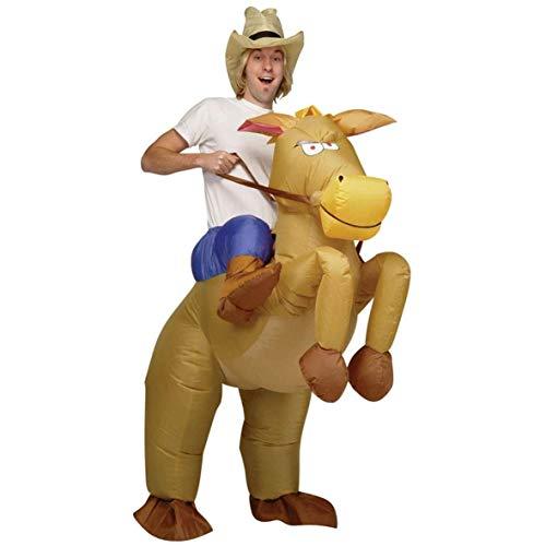 AirSuits Aufblasbares Kostüm Pferd und Cowboy Fasching Karneval