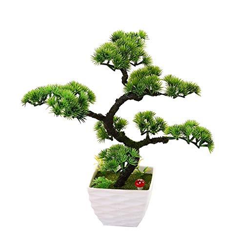 Dekorative Blumen Simulation künstliche Blumen Künstliche Pflanze Blume Baum Grün Topf Wohnzimmer Tisch Dekoration Lucky Feng Shui deko Green, Green