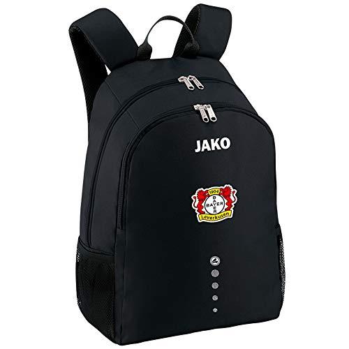 Jako Fußball Bayer 04 Leverkusen Rucksack Classico Unisex Backpack Einheitsgröße schwarz