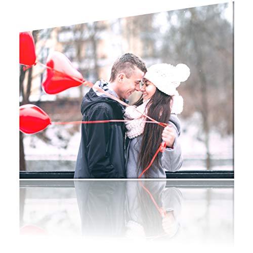 SCHILDER HIMMEL Personalisiertes Poster auf Acrylglas oder Vollaluminium ab Größe 21 x 15 cm, Wunschbild und Wunschtext