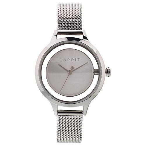 Esprit Damen Analog Quarz Uhr mit Edelstahl Armband ES1L088M0015