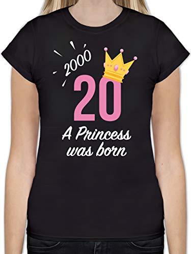 Geburtstag - 20 Geburtstag Mädchen Princess 2000 - S - Schwarz - Tshirt 20 Jahre - L191 - Tailliertes Tshirt für Damen und Frauen T-Shirt