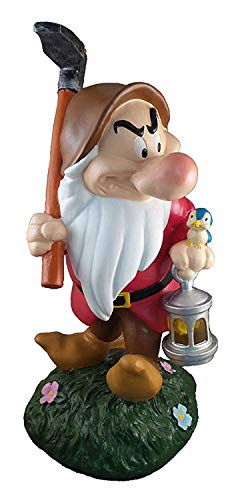 Design International Group Disney Grumpy Tragetasche Laterne Solar LED Garten Statue