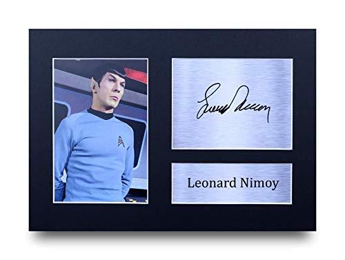 HWC Trading Leonard Nimoy A4 Ungerahmt Signiert Gedruckt Autogramme Bild Druck-Fotoanzeige Geschenk Für Star Trek Tv-Show-Fans