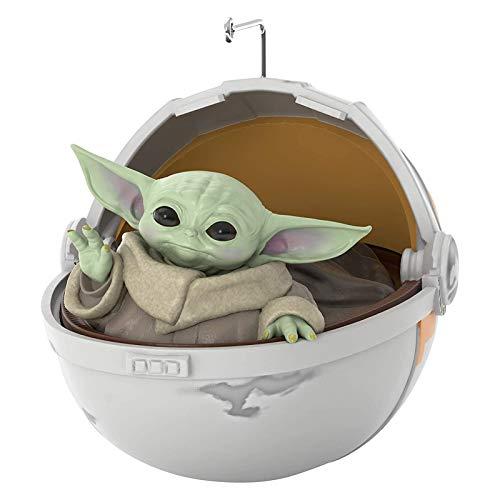 Offizielle Starwars, 3D Mandalorian Baby Yoda Spielzeug, Starwars Offizielle Weihnachtsbaumschmuck, Hängende Dekoration Ornament, Kostbare Harz Dekoration Geschenke Für Kinder Jungen Mädchen Jugend