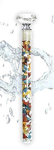 Edelsteinstab, Energiestab, Wasserstab Fastenmischung mit Rohdiamanten
