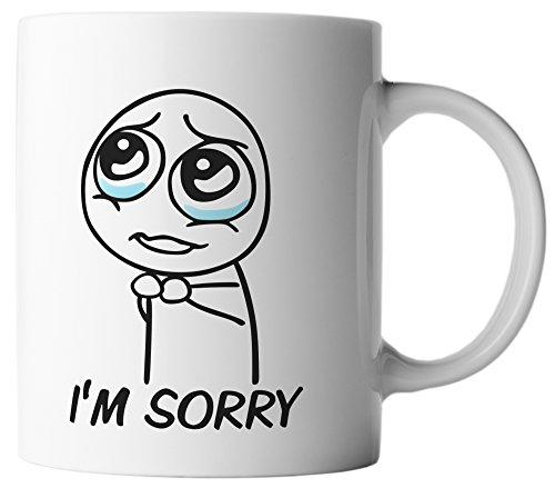 vanVerden Tasse I'm Sorry Entschuldigung, Farbe:Weiß/Bunt