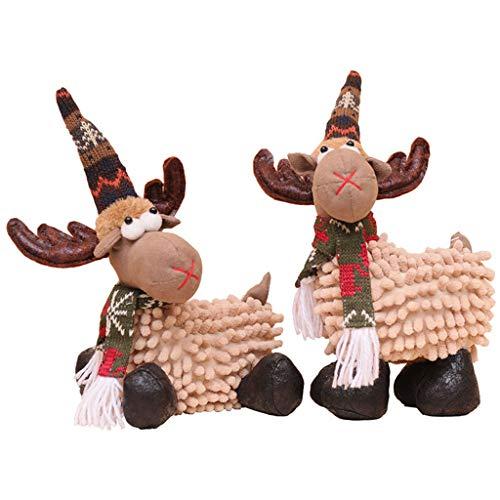Comie Weihnachts Plüschtier, Weihnachtselch Puppe spielt Weihnachtsrotwild Verzierungs Weiche Angefüllte Kissen Plüsch Spielzeug Geschenke Hauptdekor Home Decoration Geschenke (B)