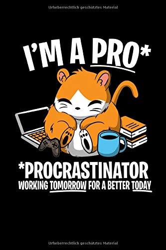 Notizbuch: Kalender 2020 Hamster Faul Procrastinate Witz Lustiges Geschenk 120 Seiten, 6X9 (Ca. A5), Jahres-, Monats-, Wochen- & Tages-Planer