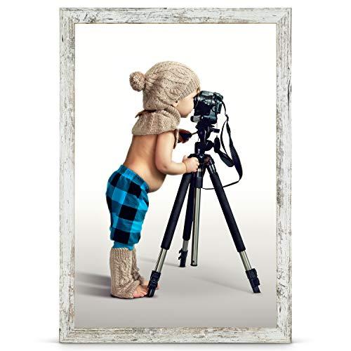 Stallmann Design Bilderrahmen 70x100 cm Vintage Rahmen Fuer Dina 4 und 60 andere Formate Fotorahmen Bilderrahmen zum hängen aus Holz MDF mehrere Farben wählbar Frame für Foto oder Bilder