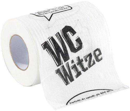 infactory NC2756 Klopapier Bedruckt Fun: Toilettenpapier Witze, 1 Rolle (WC Papier), Weiß