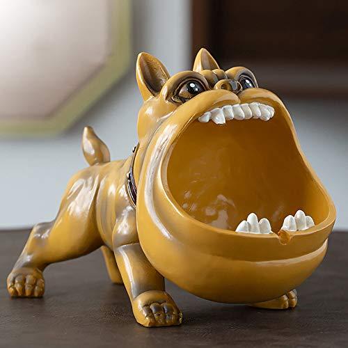 Wanjun Bulldog Aschenbecher, Hund Aschenbecher, Lustiges Geschenk Für Männer, Aus Naturharz, 20X10X14Cm,C