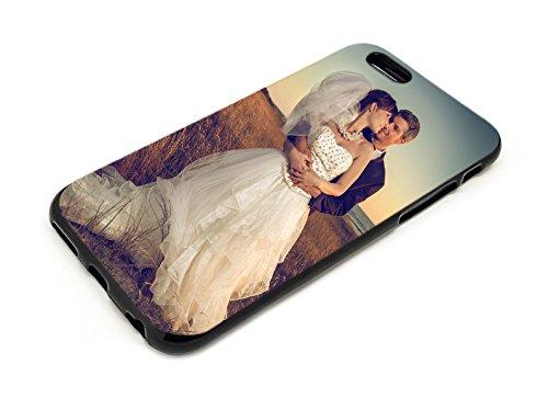PixiPrints Premium Handyhülle selbst gestalten mit eigenem Foto und Text * Bild Schutzhülle, Kompatibel mit Apple iPhone 6 / 6S, Hüllentyp: TPU-Silikon/Schwarz Matt