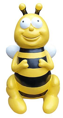 Gartenfigur Biene sitzend lustige Deko Tierfigur Gartendeko Dekofigur groß