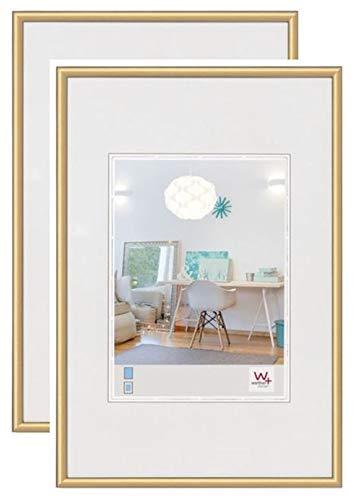 walther design KV050GD New Lifestyle Kunststoff Bilderrahmen, 40x50 cm, gold, 2er Pack