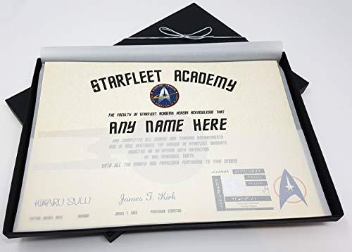 Star Trek Starfleet Academy personalisierbares Zertifikat in Luxus-Geschenkbox