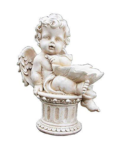 Gartenfigur 34 cm Hoch Engel 16024 A Gartendeko Engelsfigur Grabdeko Figur Engels