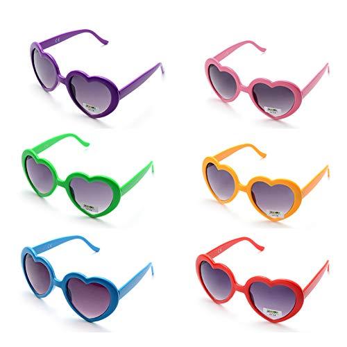 Onnea 6 Paare Party Favors Lustige Sonnenbrille Bunt Set für Kinder Erwachsene