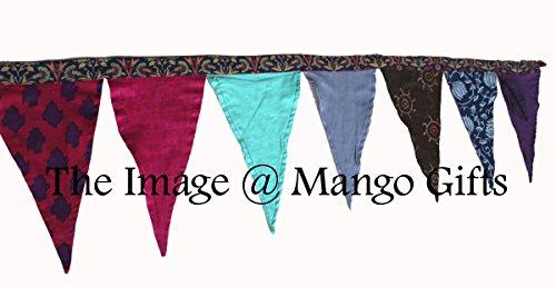 Schöner großer indischen wendbar Baumwolle Stoff Wimpelkette mit 12Flaggen Tee Pary Banner