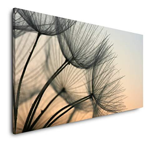 Paul Sinus Art Pusteblumen 120x 60cm Panorama Leinwand Bild XXL Format Wandbilder Wohnzimmer Wohnung Deko Kunstdrucke