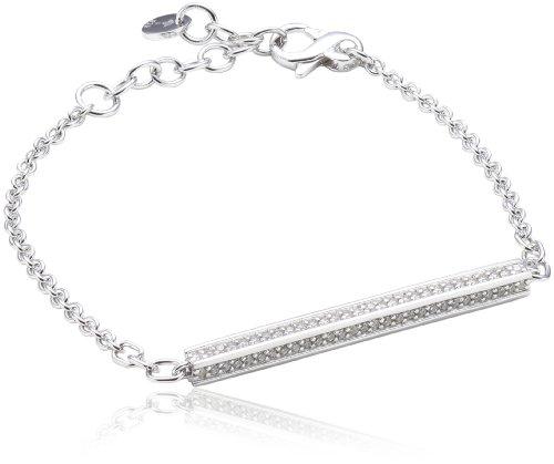 Joop Damen-Armband Zirkonia weiss 195 cm 925 Sterling Silber JPBR90353A195