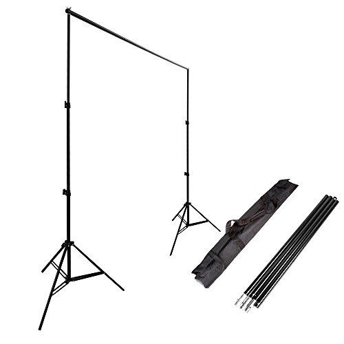 Ruili 2.4 x 3m Fotostudio Set Hintergrund ständer Hintergrundsystem Kit mit Tragetasche Backdrop Stand für Muslins Hintergrund, Papier and Canvas