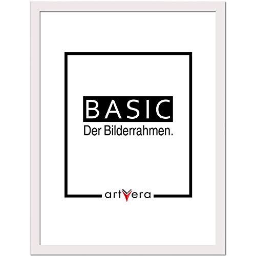 artvera Basic Holz Bilderrahmen Weiß 40x50 cm